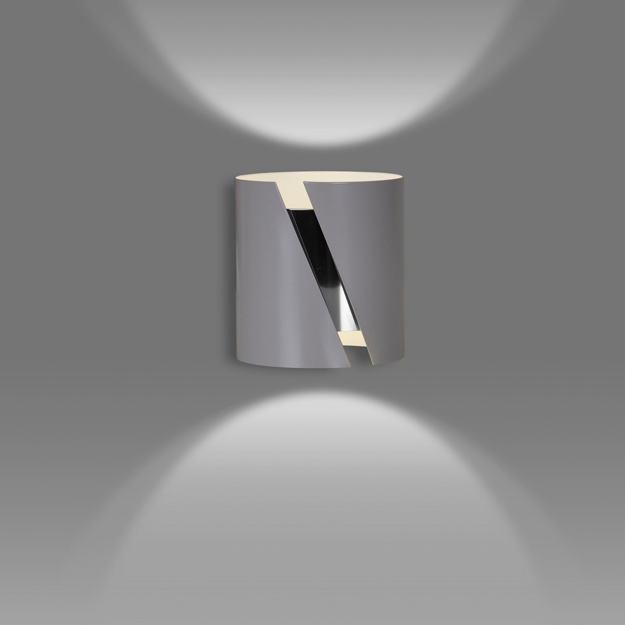 Wandleuchte Grau Metall Up Down Modernes Design G9