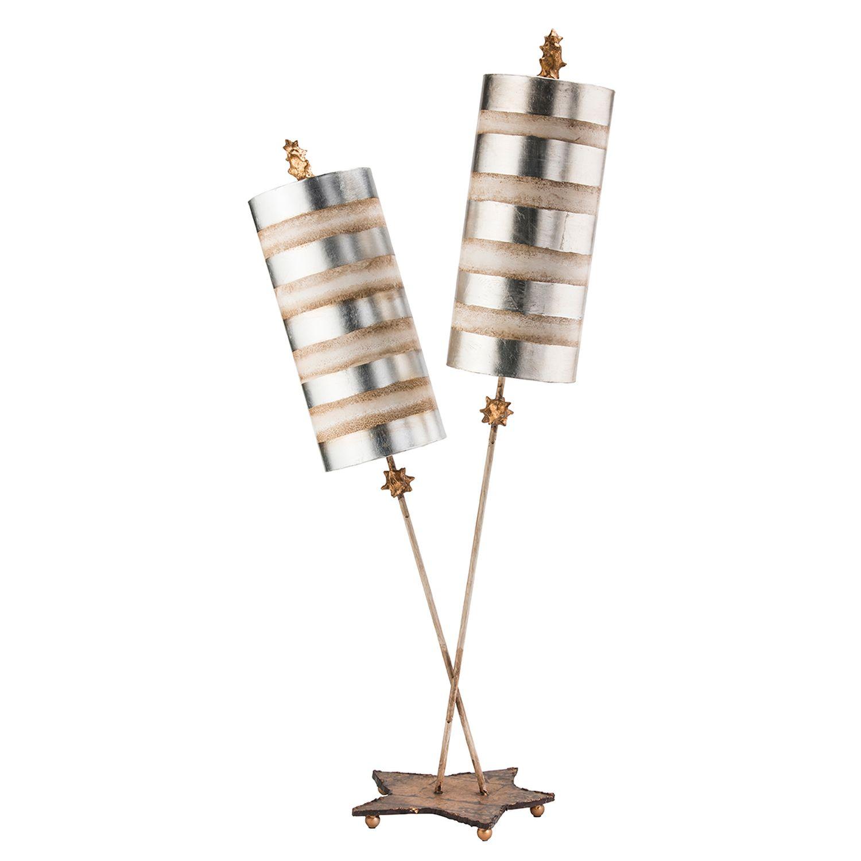 Tischleuchte JUAN Blattsilber 102cm Bodenlampe