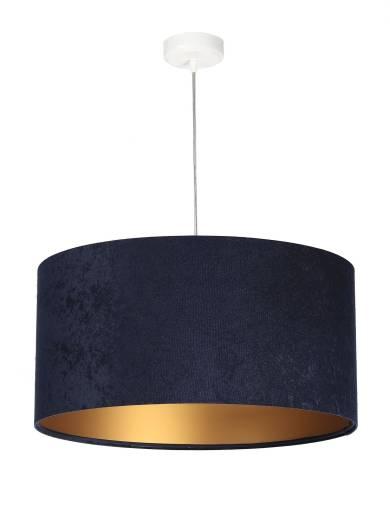 Pendelleuchte Blau Gold Stoff Esstisch Lampe