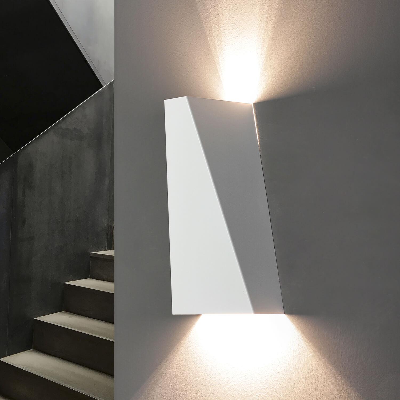 Up- & Down Wandleuchte NARWIK in Weiß 2-flmg