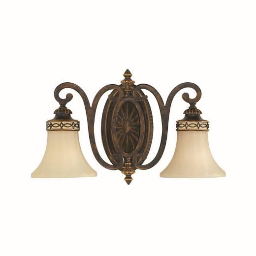 Wandlampe ANABELL 1 Braun 2xE27 Landhaus Leuchte