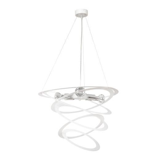 Designer Pendelleuchte Chrom Spirale Modern 3x E27