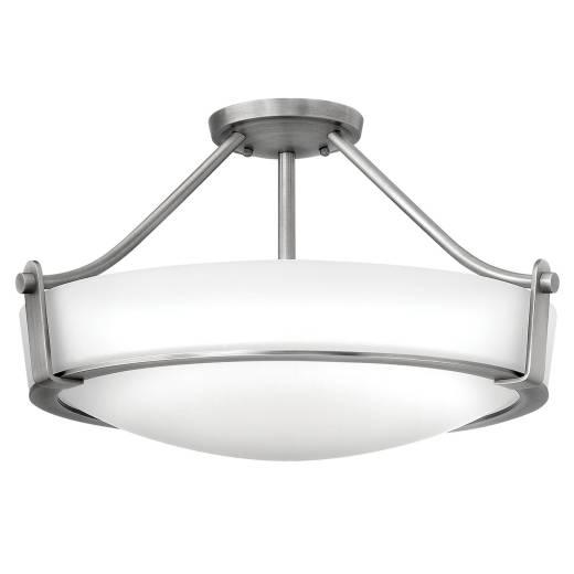 Deckenleuchte SOMBRA Nickel Ø33cm Wohnzimmer Lampe