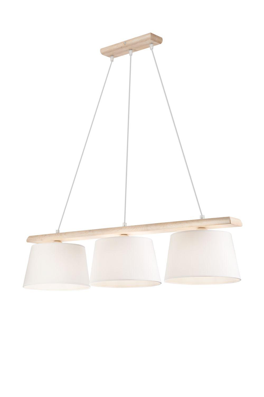 Hängelampe Wohnzimmer Modern Holz 3-flmg Esstisch