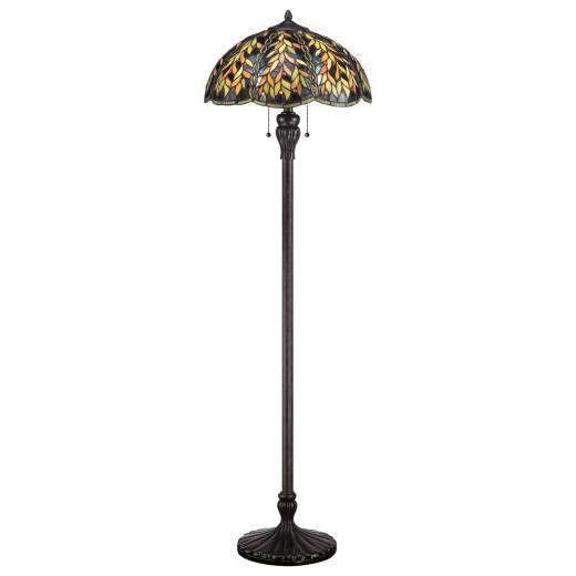 Stehlampe Tiffany Stil 149cm Zugschalter Wohnzimmer