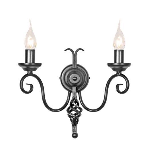 Wandlampe CAMELOT 4 Schwarz kerzenform 2-flmg Flur