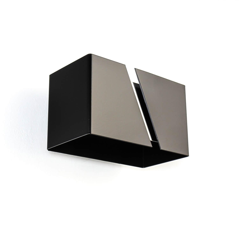 Up Down Wandleuchte Metall Design eckig Schwarz G9