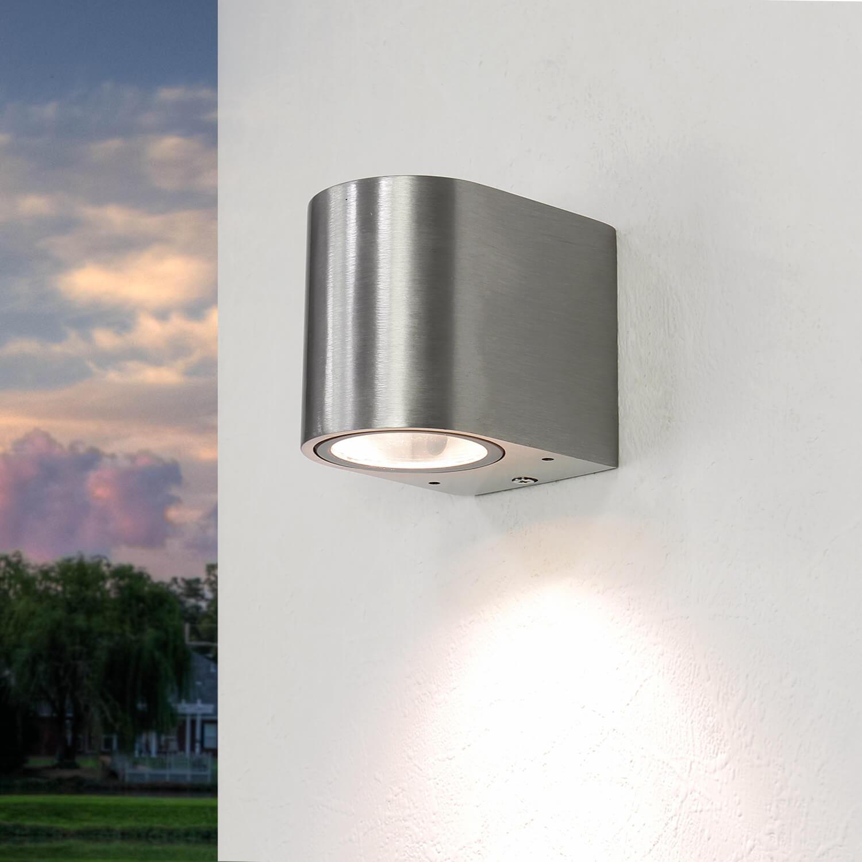 Halbrunde Außenwandlampe Silber Aluminium AALBORG