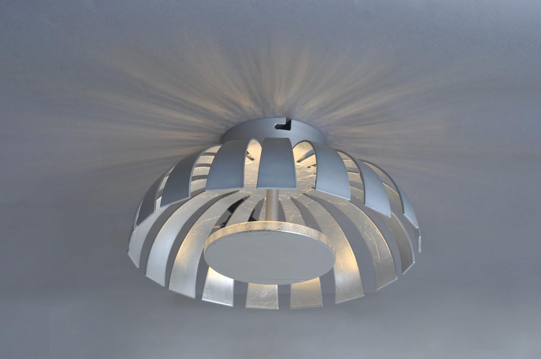 LED Deckenleuchte Silber 1100lm rund 26cm FLARE