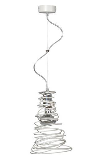 Design Pendelleuchte Spirale Weiß höhenverstellbar