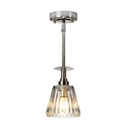 LED Deckenlampe Bad IP44 verstellbar Riffelglas VARINHA