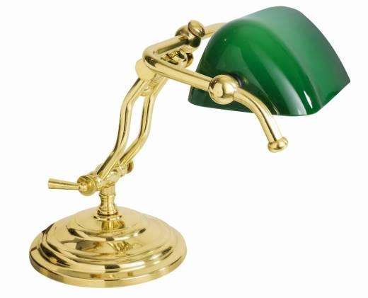 Tischleuchte Gold 24K Echt-Messing Jugendstil