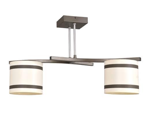 Wohnzimmerlampe Decken Beige Braun L:65cm Stoff