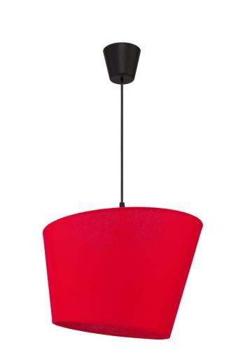 Pendelleuchte Esstisch Rot Stoff Modern Design