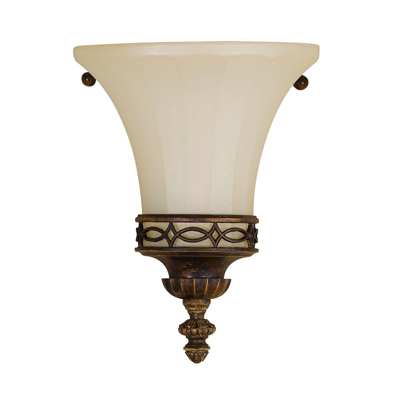 Wandlampe ANABELL 1 Braun Landhaus Lampe Blendarm