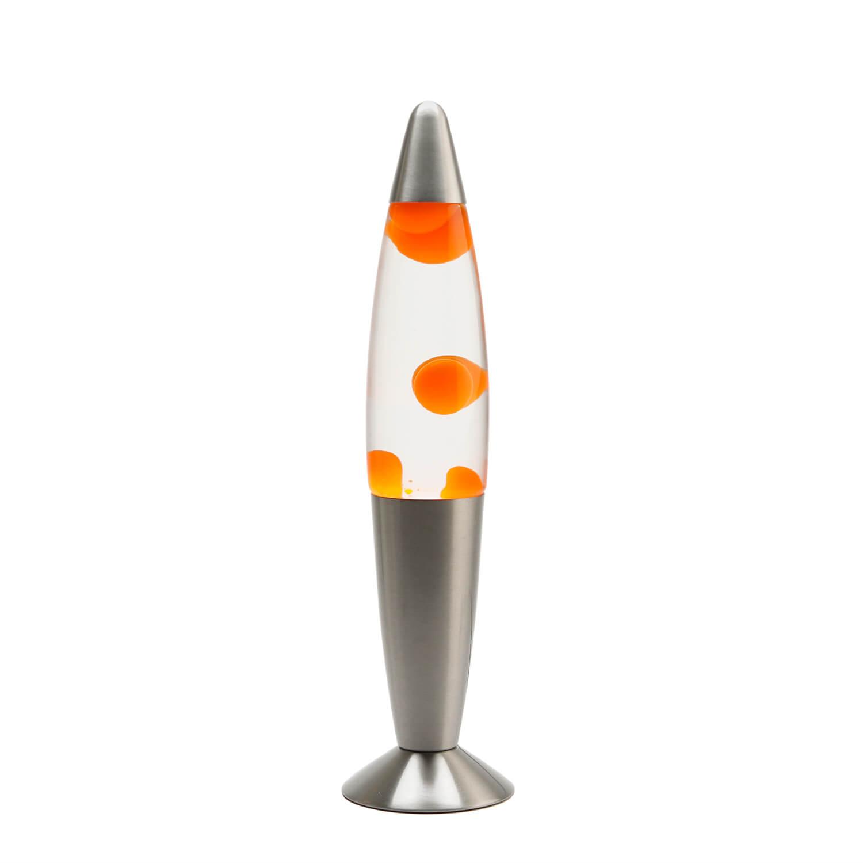 Fröhliche Lavalampe TIMMY Wachs Orange H:36cm