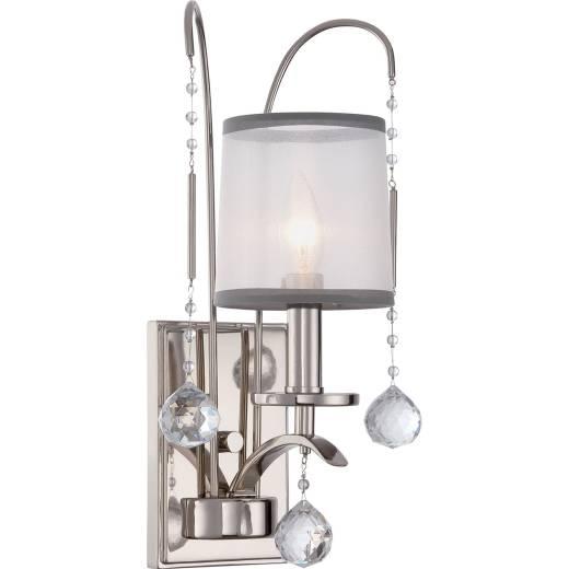 Wandlampe TAZIA in Silber Antik Kristall Lampe