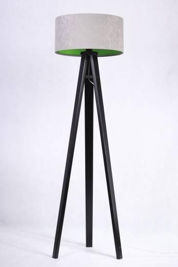 Stehlampe JERRY Grau Grün Retro 140cm Wohnzimmer