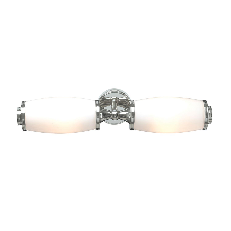 Messing Badleuchte LED in Chrom IP44 spritzwasserdicht