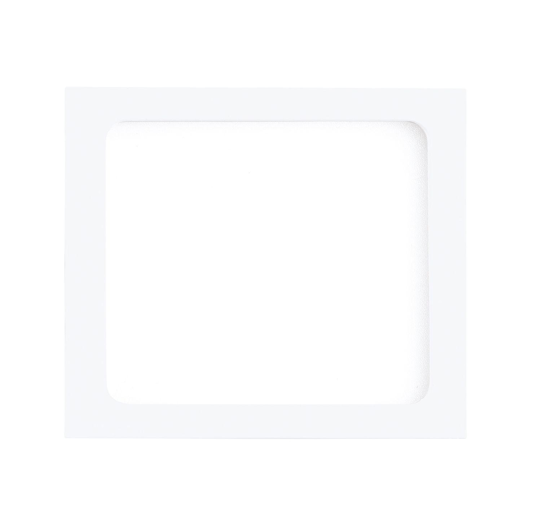 Eckiger Einbau LED Spotstrahler Fueva 1 Weiß