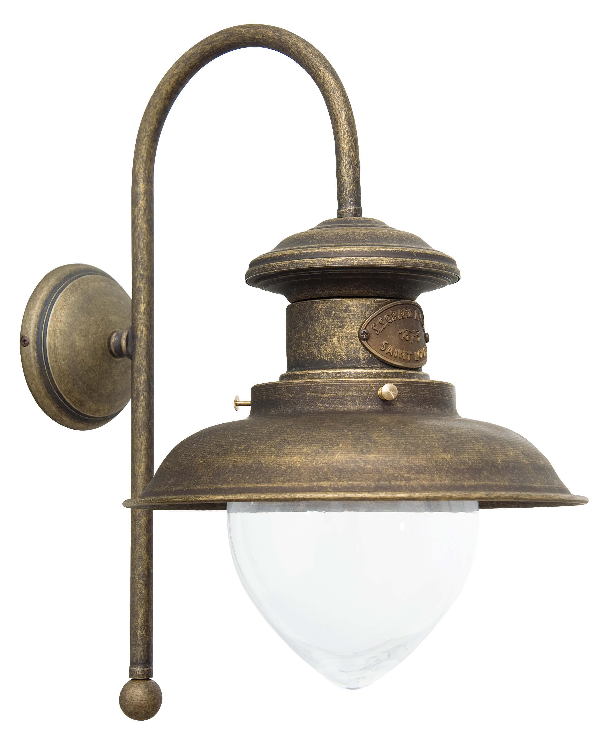 Wandlampe Bronze Antik Al Mare aus Echt-Messing