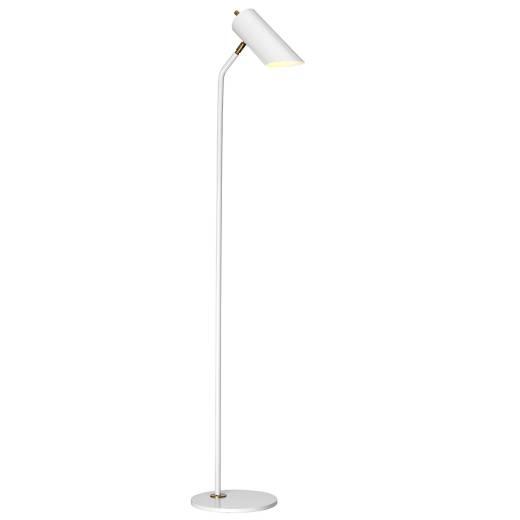 Stehleuchte LEYRE in Weiß Messing 145cm Bodenlampe