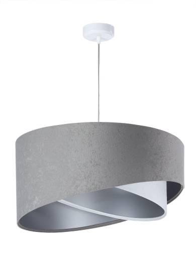 Pendellampe Esstisch rund Grau Weiß Silber Ø50cm