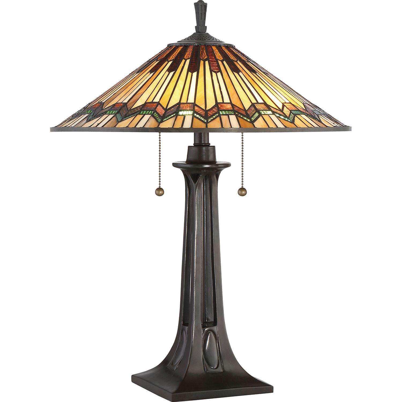 Tiffany Lampe Zugschalter 64cm hoch FARFALLA