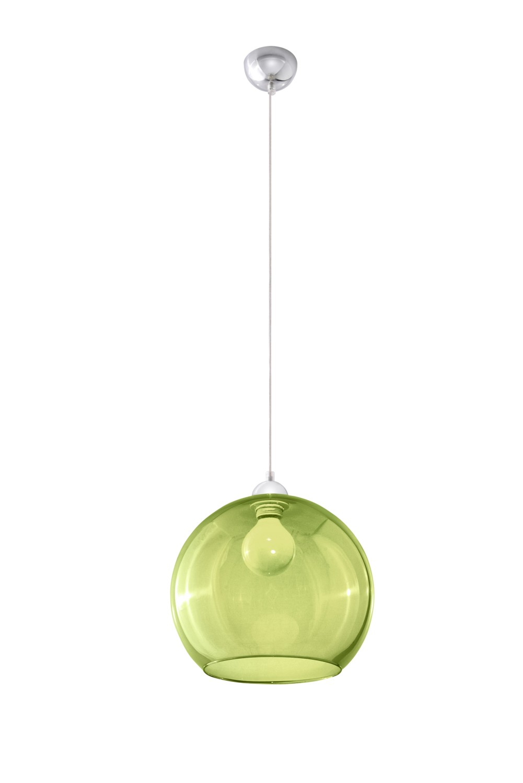 Hängeleuchte mit Glasschirm Grün