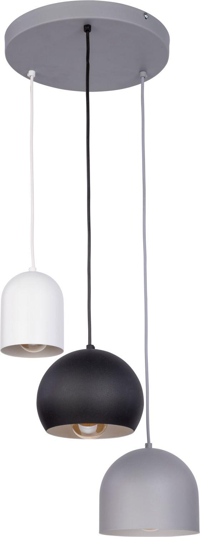 Pendelleuchte Grau Weiß Schwarz Esstisch Lampe