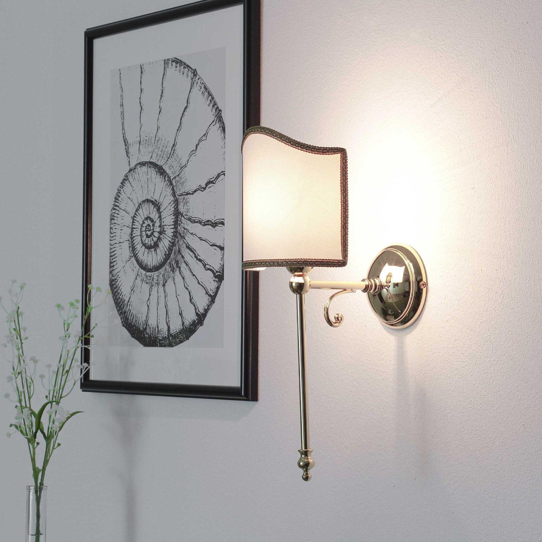 Klassische Wandleuchte Wandlampe Vergoldet Mit 24 Karat