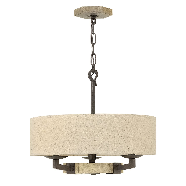 Pendelleuchte VIVIA Beige Holz Ø49cm kürzbar Lampe