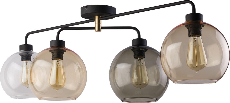 Deckenlampe KALETE Glas in Bernstein Graphit Klar
