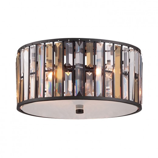 Deckenleuchte PRISM Silber Ø42cm Jugendstil Lampe