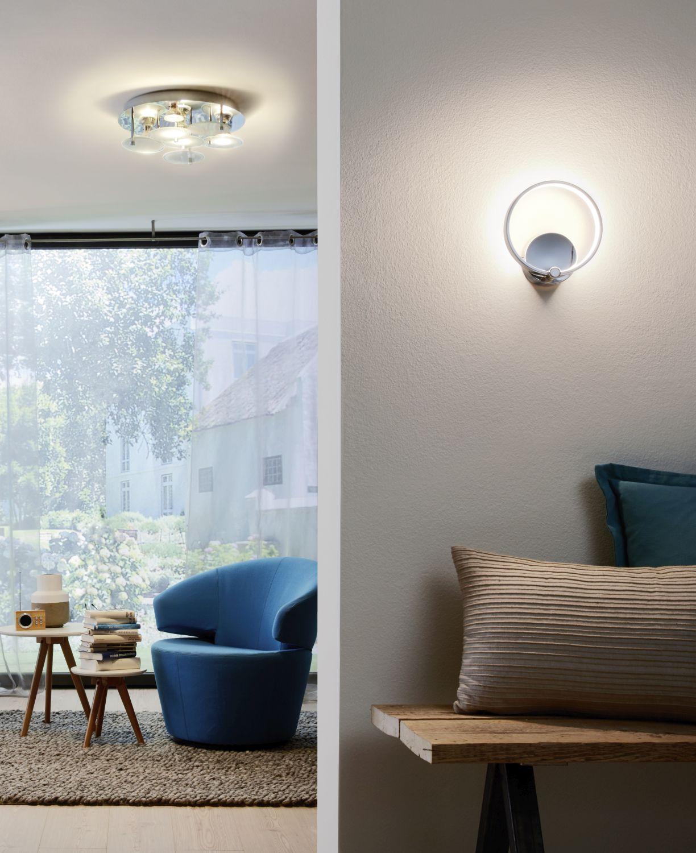 Wandleuchte LED Lasana Weiß