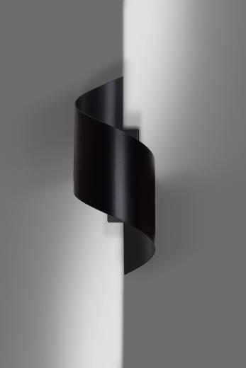 Stylische Wandleuchte Schwarz Metall Design up down
