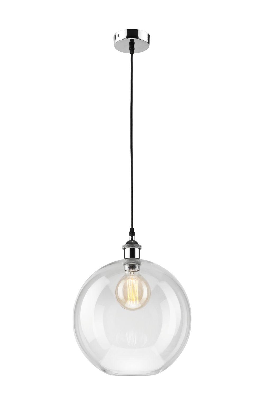 Lampe Esstisch Hängelampe Transparent rund Retro
