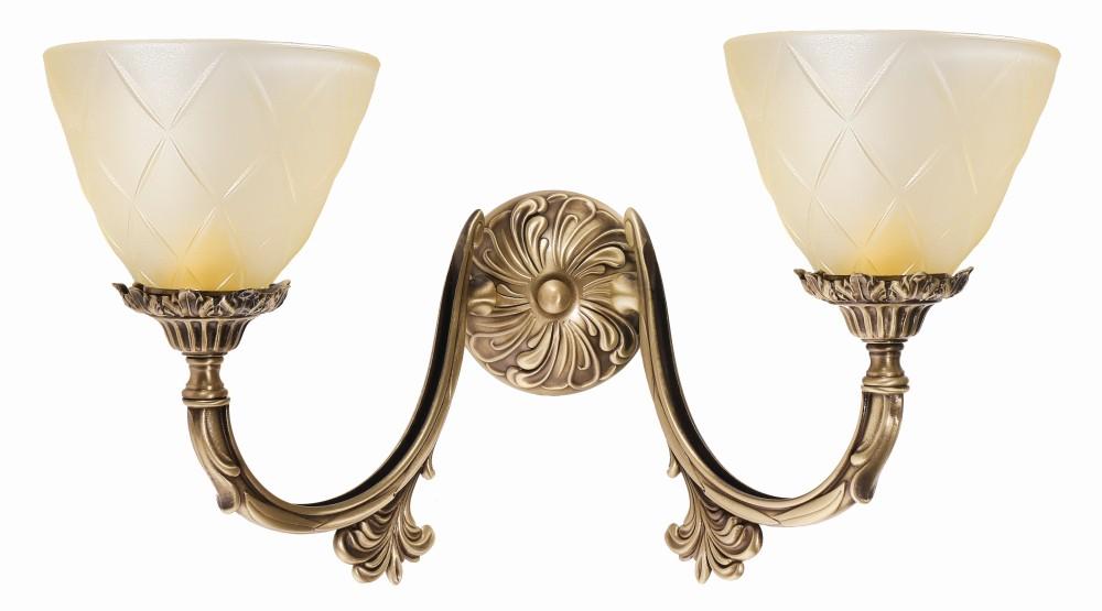 Wandlampe Messing Glas Bronze Hell