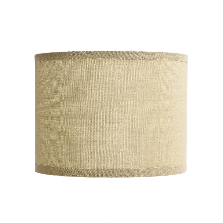 Lampenschirm Stoff Zylinder in Creme für E14 Tischleuchte