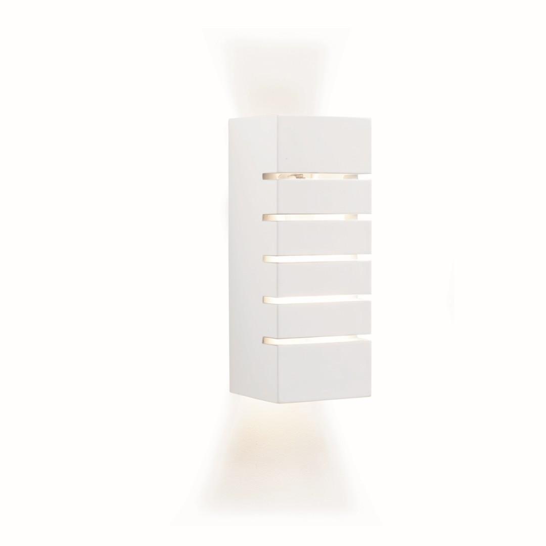 Eckige Bauhaus Wandleuchte E14 Bauhaus in Weiß