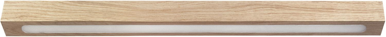 Flache Deckenleuchte Futura aus Holz lang LED