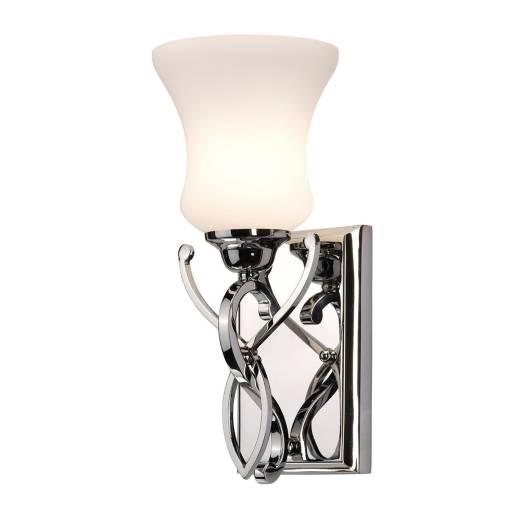 Stilvolle Badlampe LED Glas Schirm IP44 blendarm