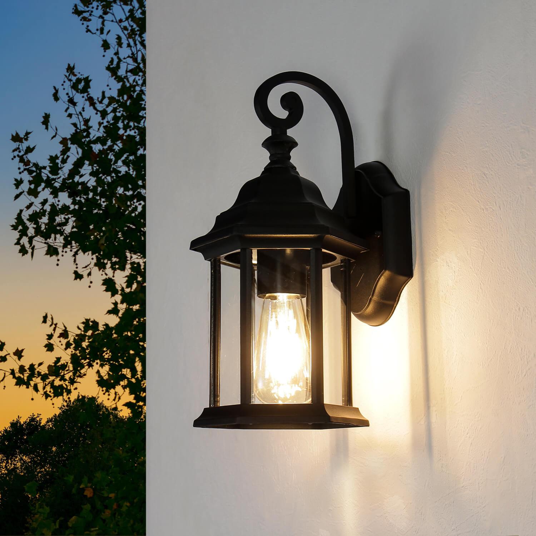 Rustikale Außenwandlampe Wandlaterne schwarz WIEN