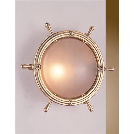 Maritime Wandlampe Messing Glas Flur Wohnzimmer