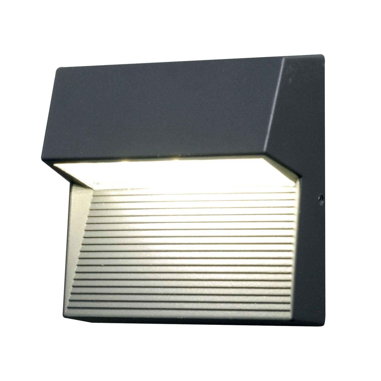 LED Wandleuchte Anthrazit quadratisch IP65 außen