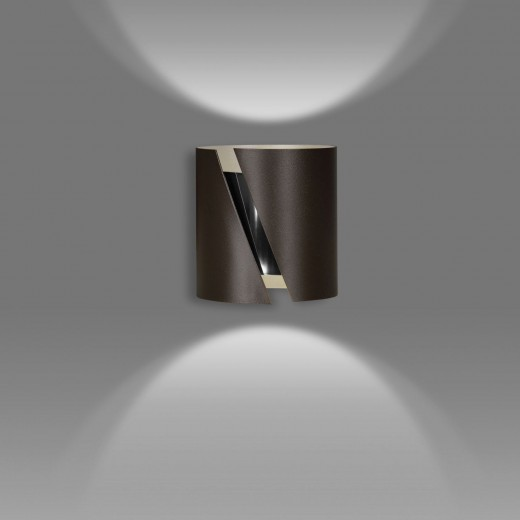 Wandlampe Flur Treppenhaus Up Down Braun Metall G9
