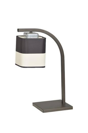 Wohnliche Tischlampe mit Stoffschirm Braun H:38cm