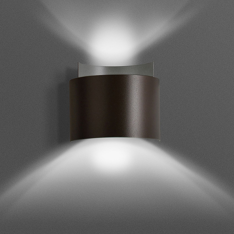 Wandleuchte Up Down Braun Metall Design Modern G9