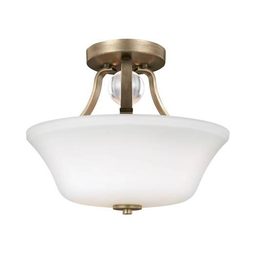 Deckenleuchte FLUIDA in Gold Weiß Ø35cm Flur Lampe