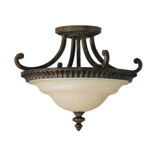 Deckenleuchte ANABELL 1 Braun Wohnzimmer Lampe